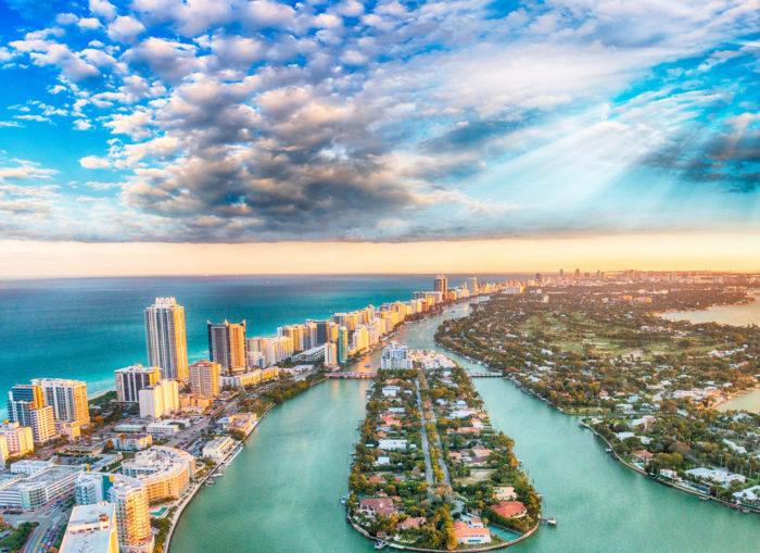 Miami Beach overhead photo
