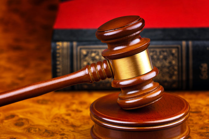 Gavel on bankruptcy attorney's desk