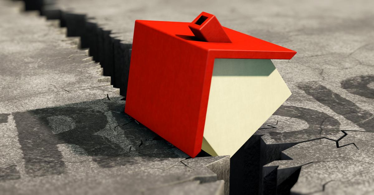 3d illustration foreclosure crisis