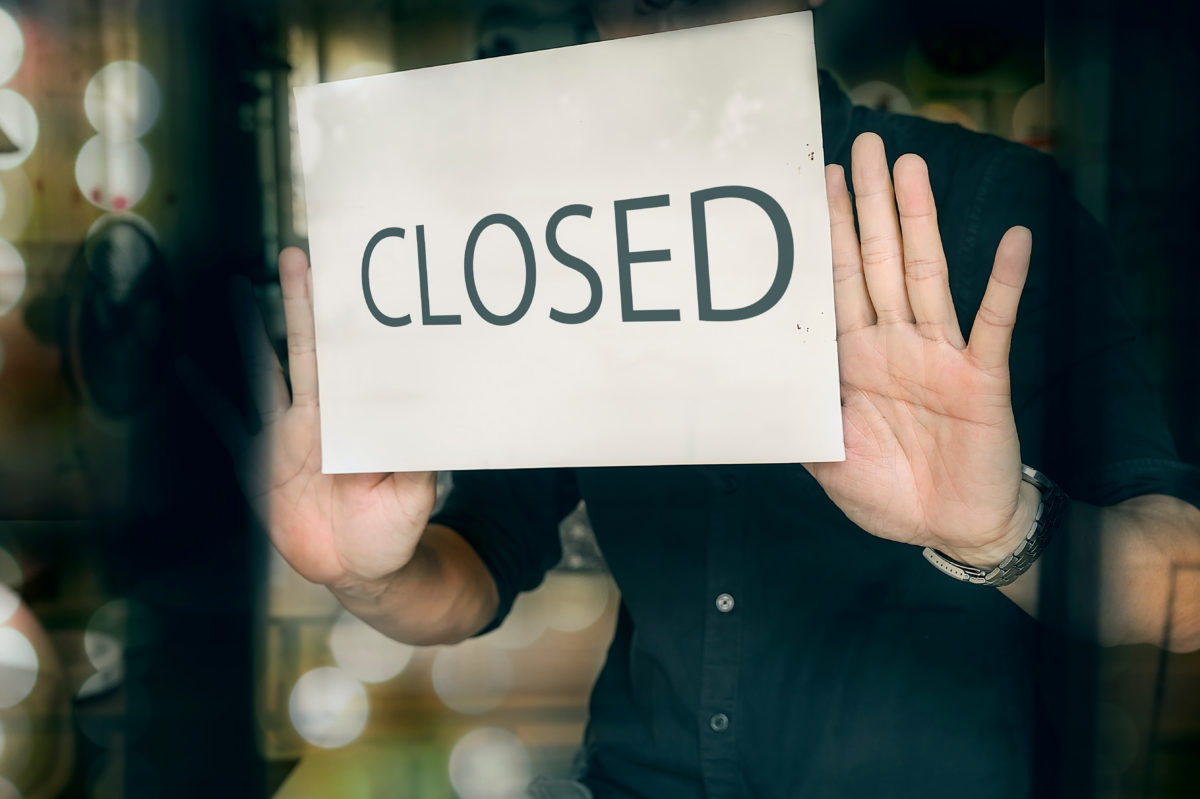 Florida business closed due to commercial foreclosure