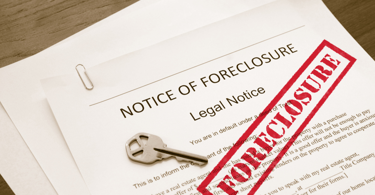 foreclosure legal document and store key